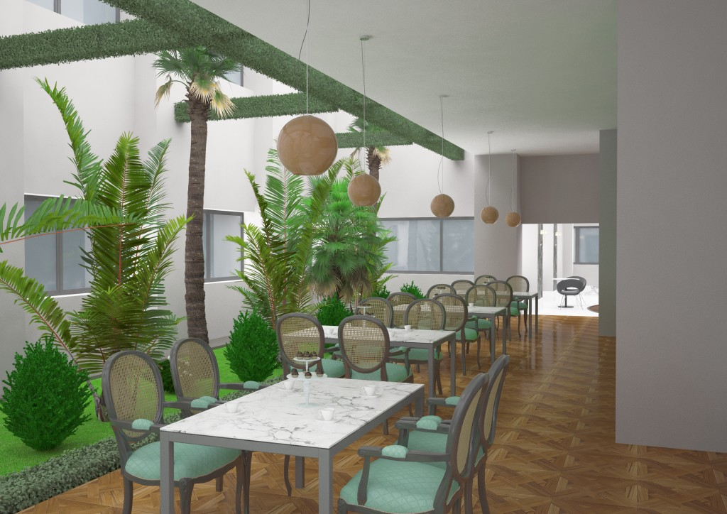 3 Boyutlu Botanik Cafe & Restaurant  Modelleme ve Tasarım 3D Rezidans Botanik Cafe ve 3D Restaurant Modelleme ve Tasar  m www