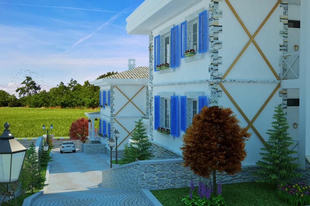 3 Boyutlu Villa Çizimi & 3D Villa Tasarımı 3 Boyutlu Villa   izimi animam 12