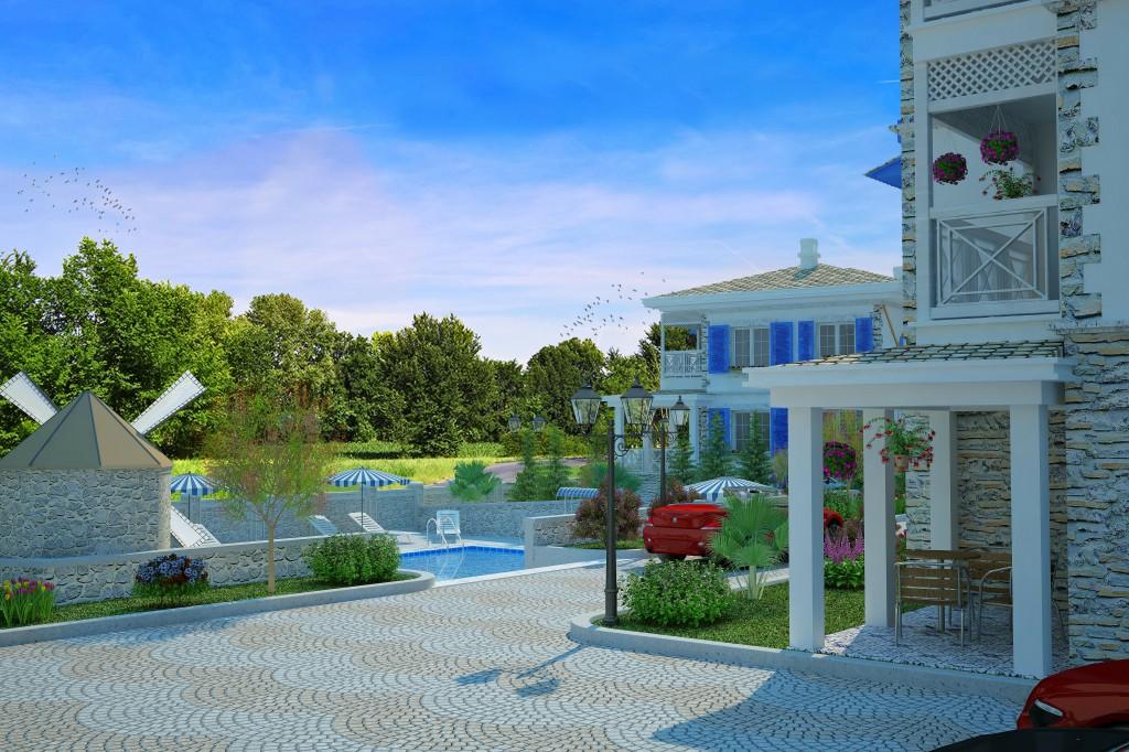 3 Boyutlu Villa Çizimi & 3D Villa Tasarımı 3 Boyutlu Villa   izimi animam 15