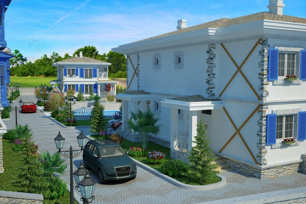 3 Boyutlu Villa Çizimi & 3D Villa Tasarımı 3 Boyutlu Villa   izimi animam 4
