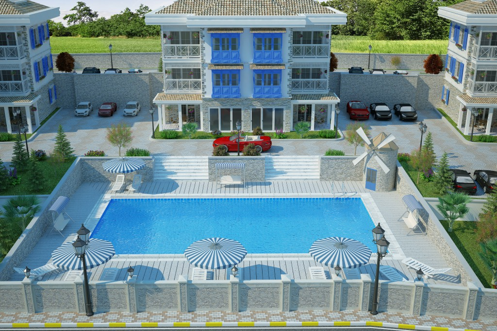 3 Boyutlu Villa Çizimi & 3D Villa Tasarımı 3 Boyutlu Villa   izimi animam 6