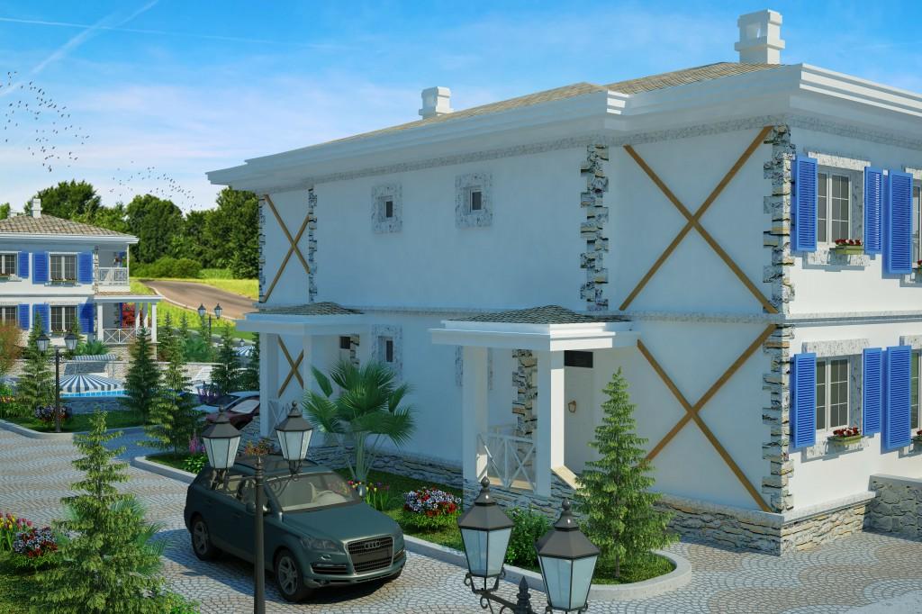 3 Boyutlu Villa Çizimi & 3D Villa Tasarımı 3 Boyutlu Villa   izimi animam 7