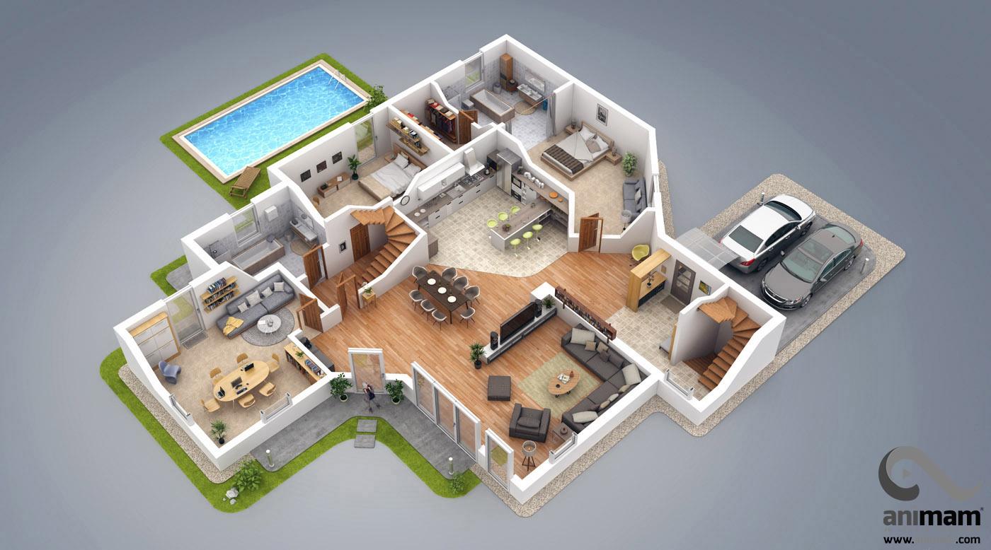3d kat planı Çizimi ve modellemesi 3D Kat Planı Çizimi ve Modellemesi 3D Kat Plan   izim ve Modelleme animam