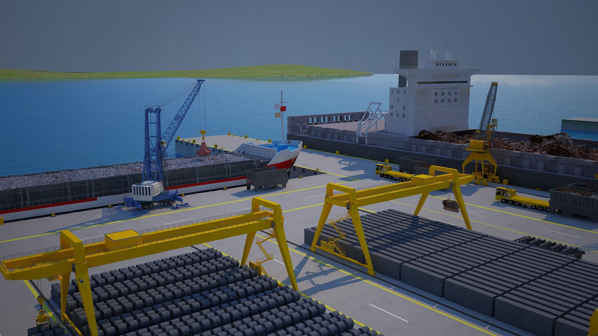 otomatik taslak 3 Boyutlu Vinç Modelleme 3 Boyutlu Liman Vin   ve Ta    y  c   Tersane Animasyonu Animam 20